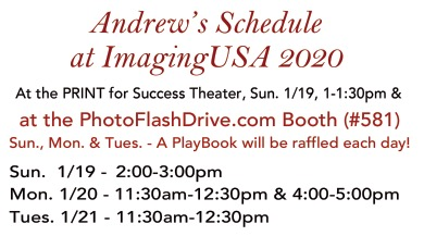 Andrew Darlow's schedule at Imaging USA 2020